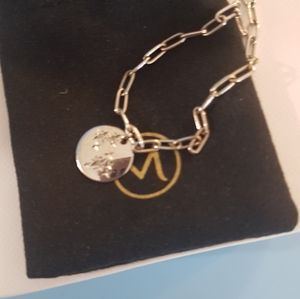 Zodiac silver bracelet